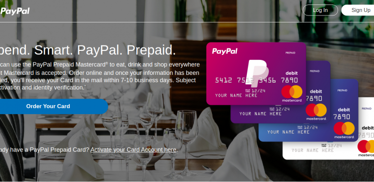 PayPal Prepaid Mastercard Logo