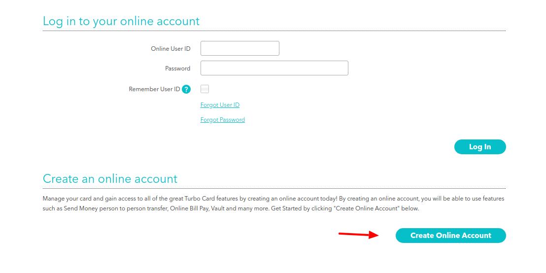 Turbo Prepaid Card Create Account