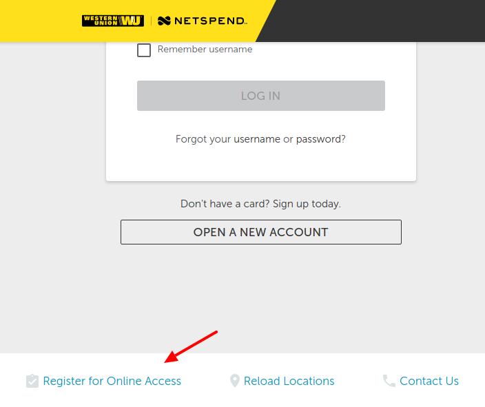 Western Union Netspend Prepaid Account Register