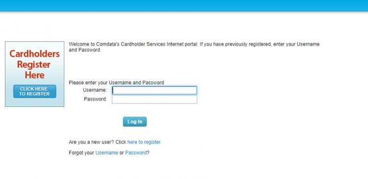 Comdata Cardholder Services - Login