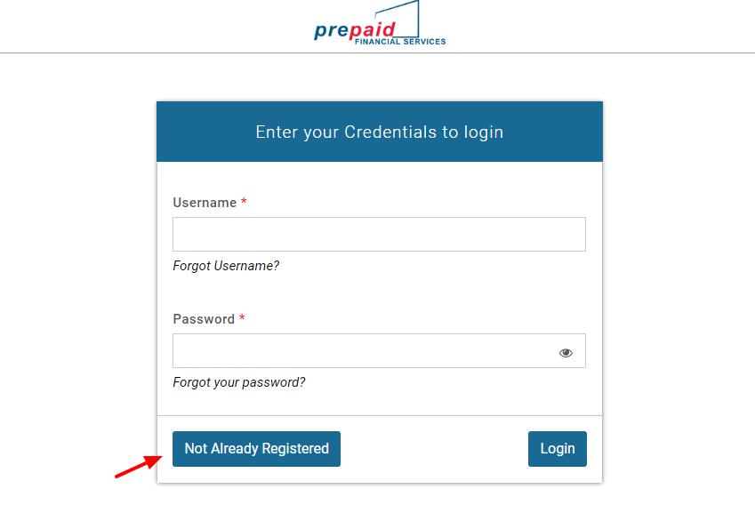 PFS Client Portal Register