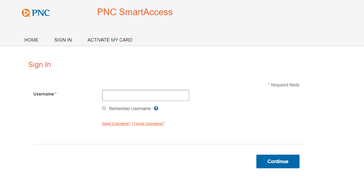 PNC SmartAccess - Sign In