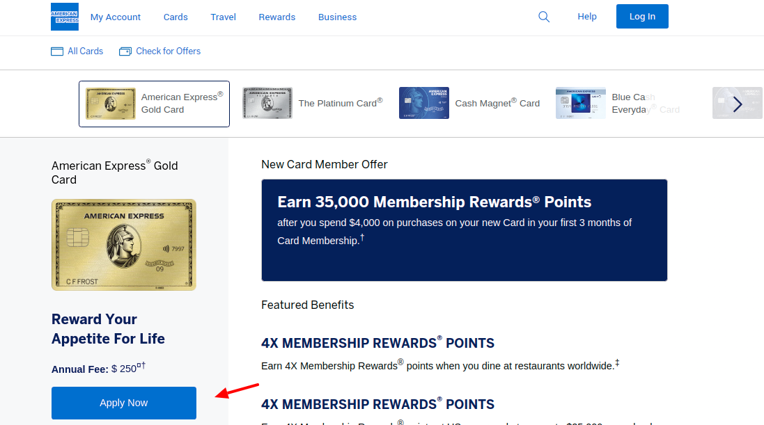 American Express Gold Card Apply