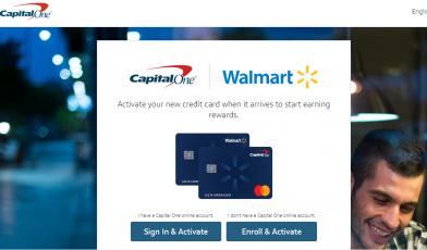 Walmart Capital One Logo