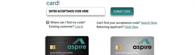 Aspire Credit Card Apply