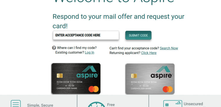 Aspire Credit Card Apply