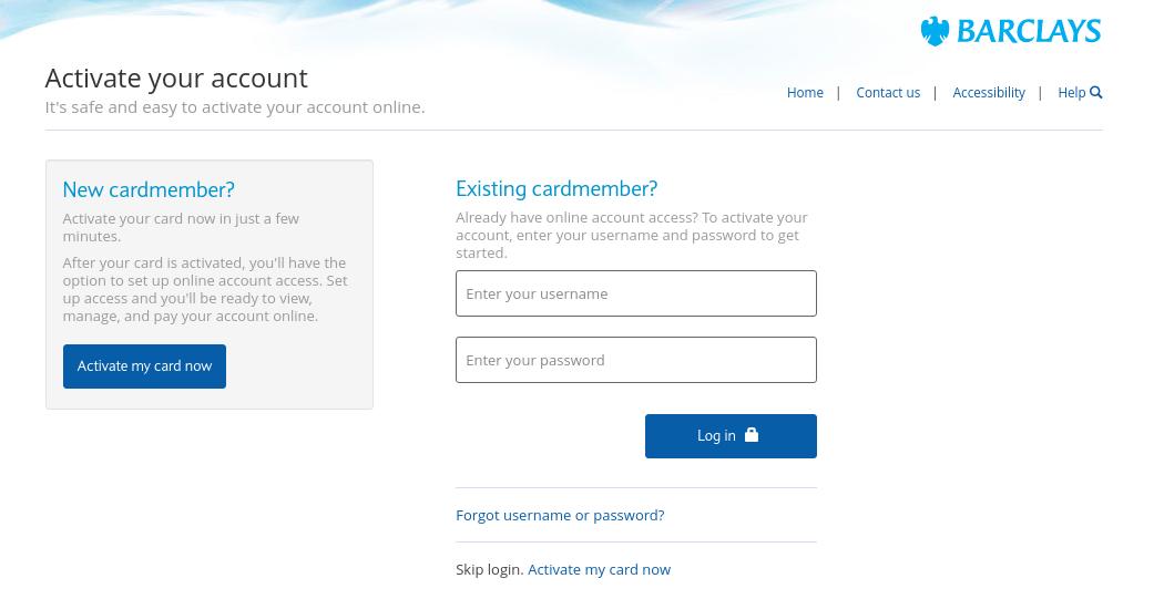 Barclays My Card Login