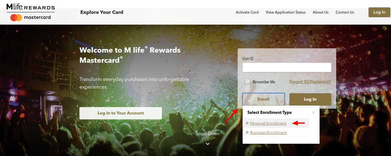 M life Rewards Mastercard Enrollment