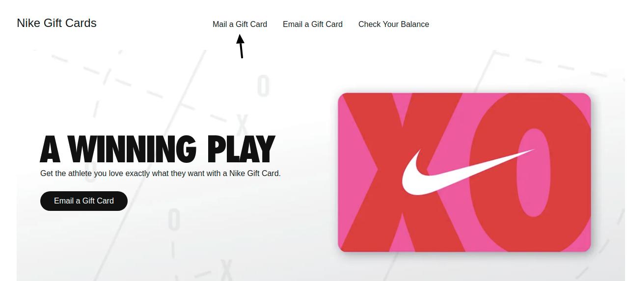 Nike Gift Card Mail