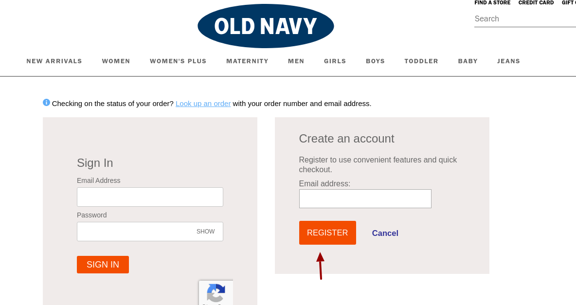 Old Navy Register