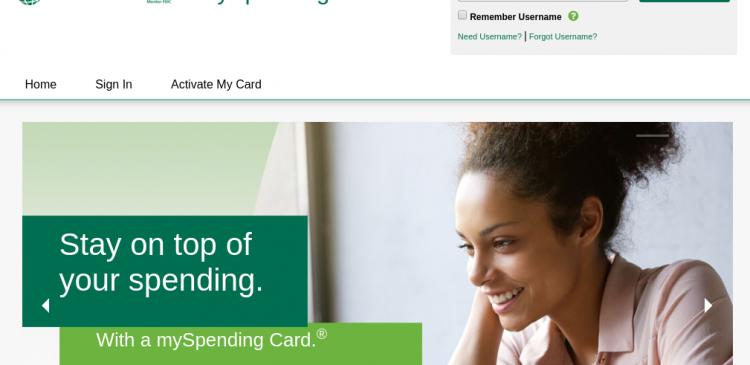 mySpending Card Logo