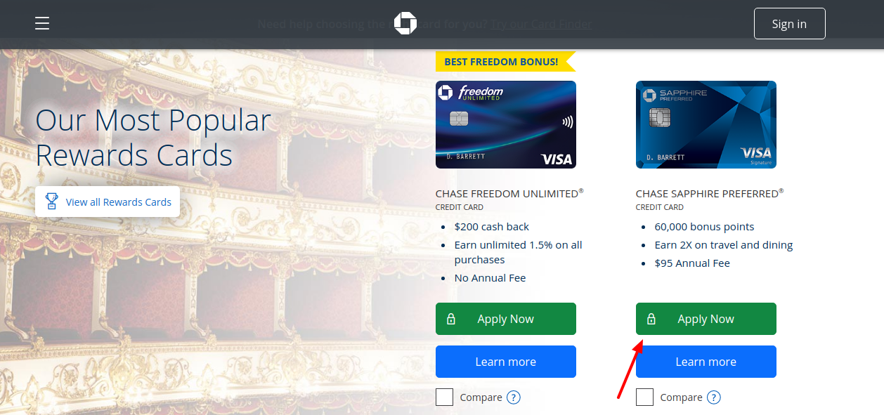 Chase Sapphire Preferred Card Apply