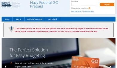 Navy Federal GO Prepaid Logo