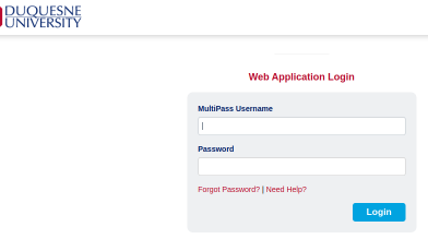 Duquesne University Login