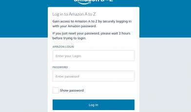 Amazon A to Z Login