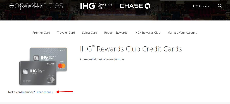 IHG Rewards Club Card Apply