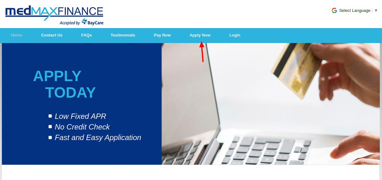 MedMax Finance Apply