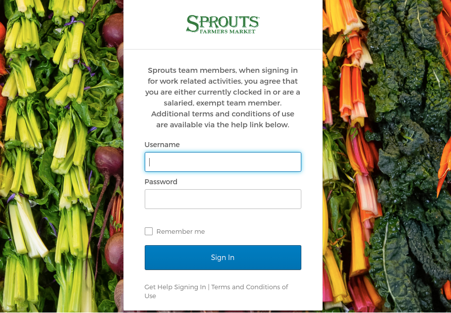 Sprouts Login