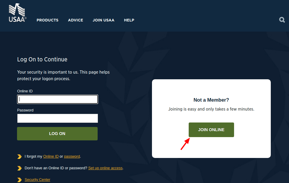 USAA Join Online
