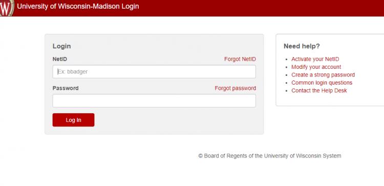 University of Wisconsin Madison Login