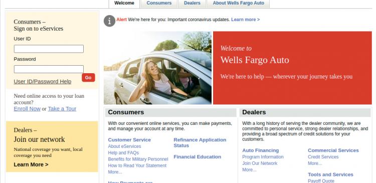 Wells Fargo Auto Logo