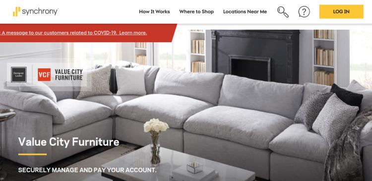 value city furniture credit card logo
