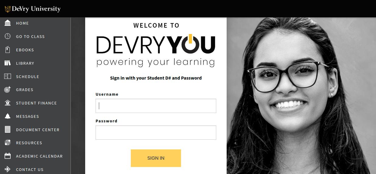 DeVry University Login