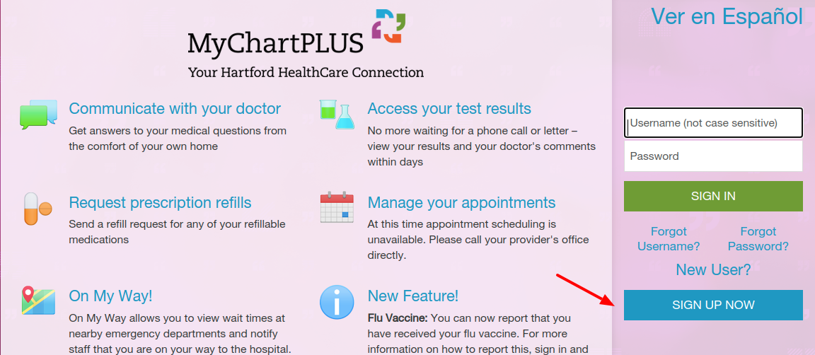 HHC MyChartPLUS Register