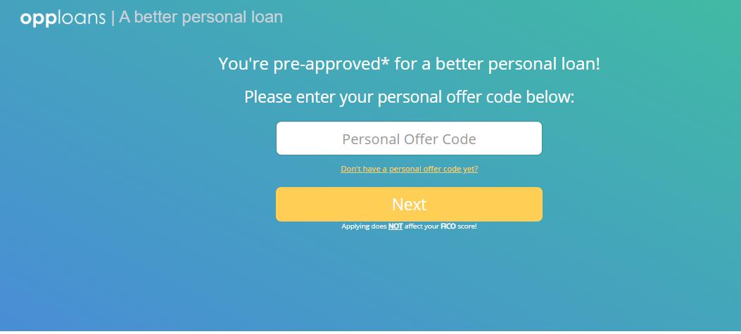 OppLoans personal loan