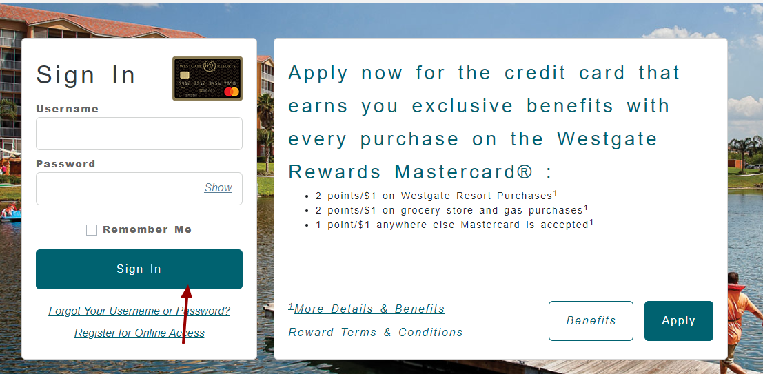 Westgate Rewards Mastercard Sign In