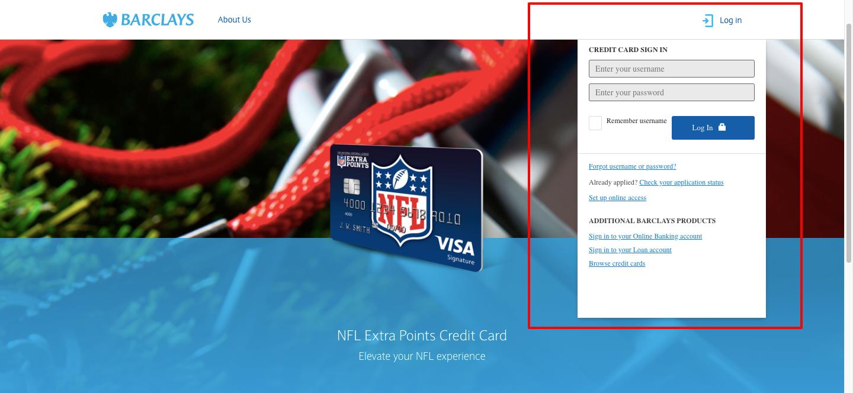 nfl credit card