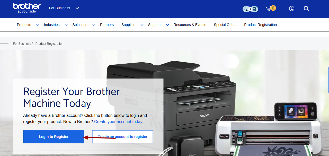 brother product registration